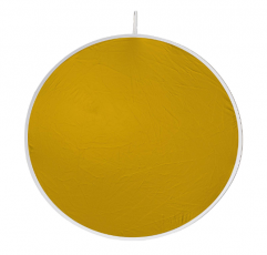 "Visual Departures Flexfill 38-3 38"" Gold/White Reversible Reflector"