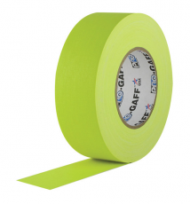 "Visual Departures Professional Gaffer Tape, 2"" x 55 Yards, Fluorescent Yellow"